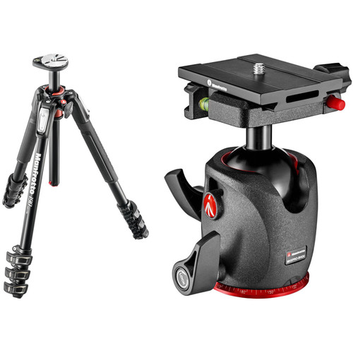 Manfrotto MT190XPRO4 Aluminum Tripod with XPRO Ball Head with Top Lock Quick Release System
