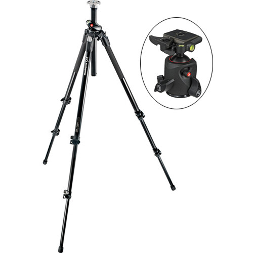 Manfrotto 190XPROL Tripod with 054 Magnesium Ball Head Kit