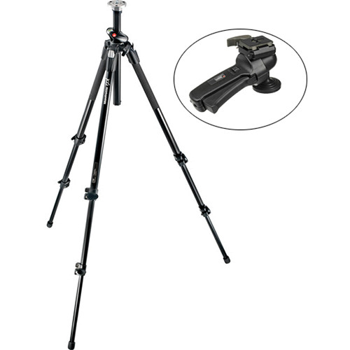 Manfrotto 190XPROL Aluminum Tripod with 322RC2 Grip Action Ballhead Kit