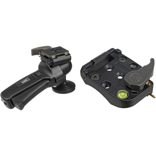 Manfrotto 322RC2 Ball Head Kit with 200PL-14 Quick Release Plate and 322RA Quick Release Adapters