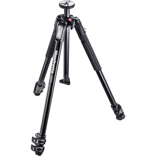 Manfrotto MT190X3 3-Section Tripod with 128RC Micro Fluid Head Kit