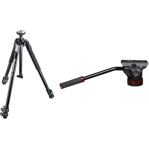 Manfrotto MT190X3 3-Section Tripod with 502HD Pro Video Head Kit