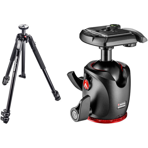 Manfrotto MT190X3 Aluminum Tripod with XPRO Ball Head with 200PL Quick-Release System