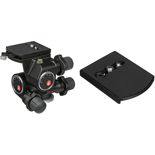 Manfrotto 410 3-Way, Geared Pan-and-Tilt Head Kit with 410PL Quick Release Plates
