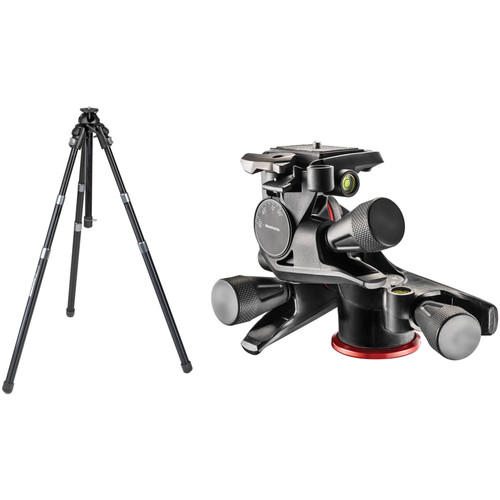 Manfrotto 458B NeoTec Pro Photo Aluminum Tripod with XPRO Geared 3-Way Pan/Tilt Head Kit