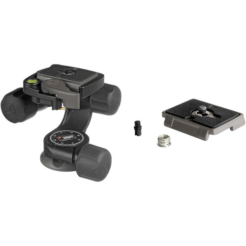 Manfrotto 460MG 3-Way, Pan-and-Tilt Head Kit with 200PL-14 and 200PL Quick Release Plates