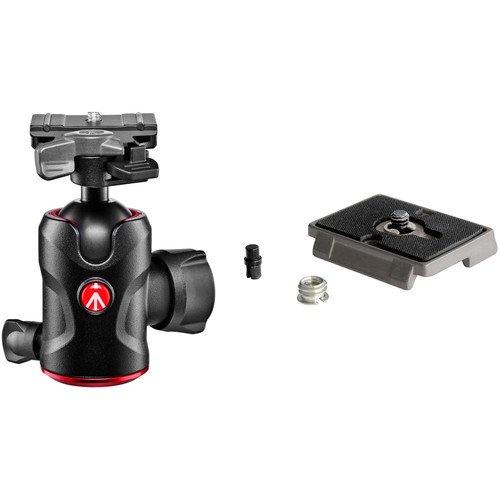 Manfrotto 496 Center Ball Head Kit with 200PL-PRO and 200PL Quick Release Plates