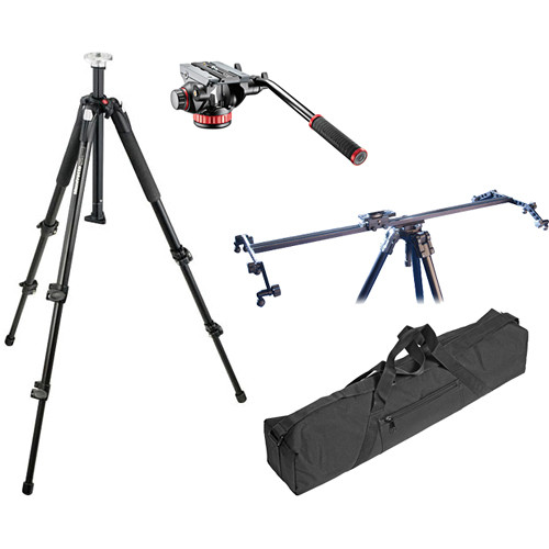 Manfrotto 502HD Flat Base Head & Legs with Vista Track Slider Kit