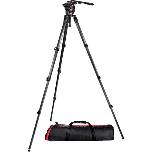 Manfrotto 526, 536K-1 Tripod System with 526-1 Head, 536 CF Tripod & Bag