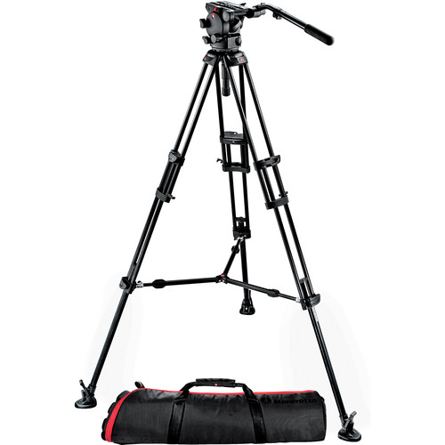 Manfrotto 526-1 Fluid Video Head with 545B Tripod & Carrying Bag