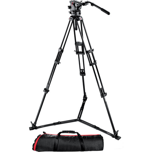 Manfrotto 526-1 Fluid Video Head with 545GB Tripod & Carrying Bag
