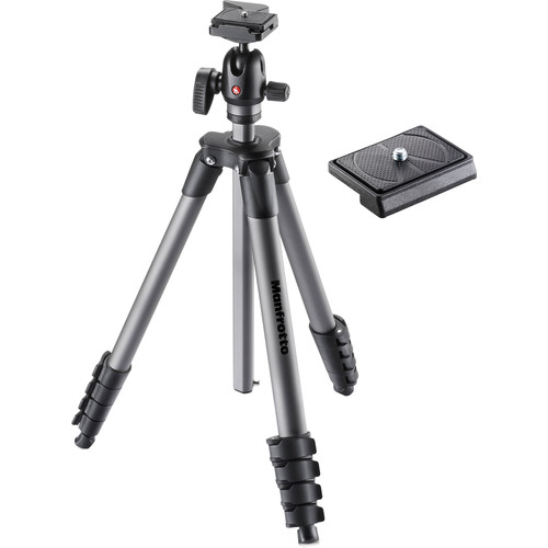 Manfrotto Compact Advanced Aluminum Tripod with Ball Head and 200LT-PL Quick Release Plate