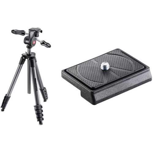 Manfrotto Compact Advanced Aluminum Tripod with 200LT-PL Quick Release Plate