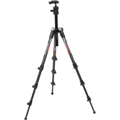 Manfrotto BeFree Compact Travel Carbon Fiber Tripod with Advanced Travel Backpack Kit