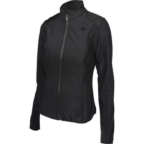 Manfrotto MA LSS050W-LBB Pro Soft Shell Jacket for Woman (L, Black)