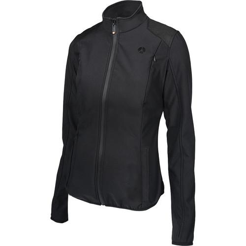 Manfrotto MA LSS050W-XSBB Pro Soft Shell Jacket for Woman (XS, Black)