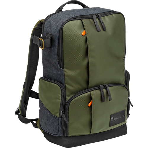 Manfrotto Street Camera and Laptop Backpack for DSLR/CSC (Green and Gray)