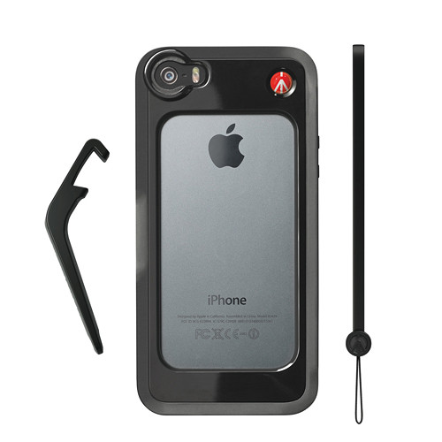Manfrotto KLYP+ Photographic Bumper Case with Kickstand for iPhone 5/5s/SE (Black)
