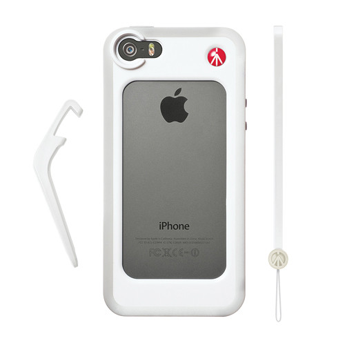 Manfrotto KLYP+ Photographic Bumper Case with Kickstand for iPhone 5/5s/SE (White)