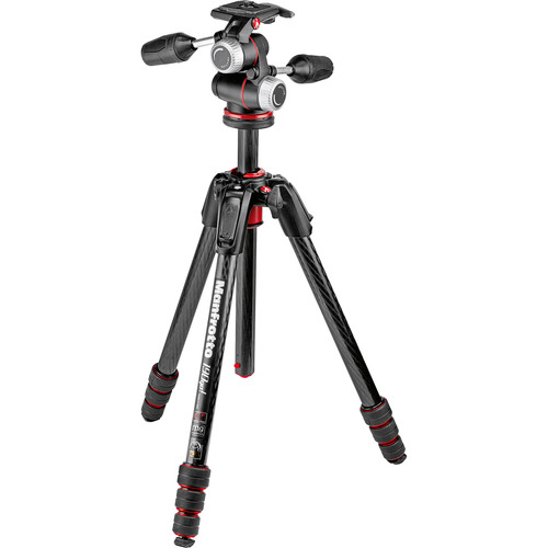 Manfrotto 190go! Carbon Fiber M-Series Tripod with MHXPRO-3W 3-Way Pan/Tilt Head Kit