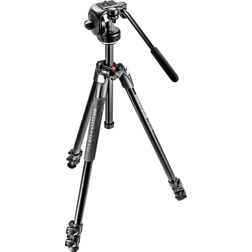 Manfrotto 290 Xtra Aluminum Tripod with 128RC Micro Fluid Video Head