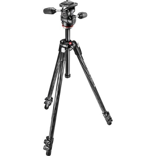 Manfrotto MK290XTC3-3WUS 290 Xtra Carbon Fiber Tripod with 804 3-Way Pan/Tilt Head