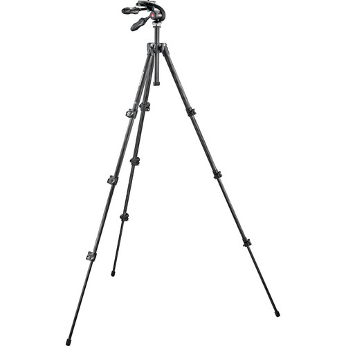 Manfrotto 293 Carbon Fiber Tripod with MH293D3-Q2 3-Way Pan/Tilt Head with Folding Handles