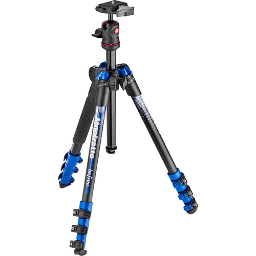 Manfrotto BeFree Color Aluminum Travel Tripod (Blue)