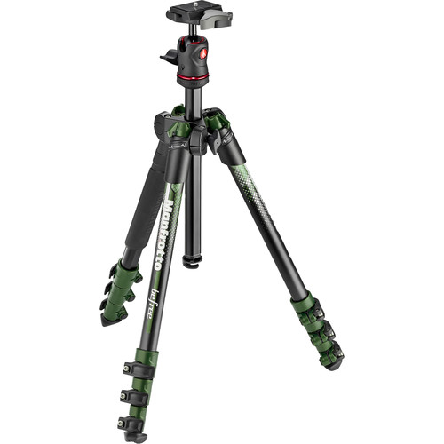 Manfrotto BeFree Color Aluminum Travel Tripod (Green)