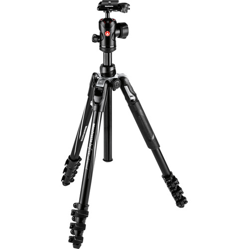 Manfrotto Befree Advanced Travel Aluminum Tripod with Ball Head (Lever Locks, Black)