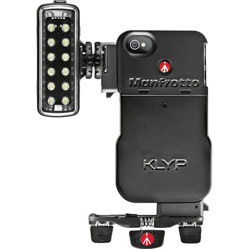 Manfrotto KLYP Case for iPhone 4/4S + ML120 LED Light + POCKET Tripod