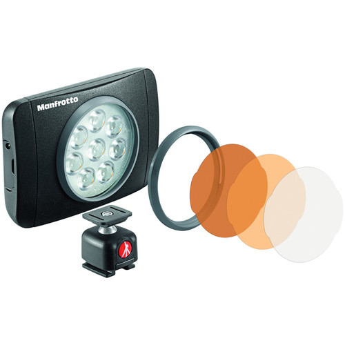 Manfrotto Lumimuse 8 On-Camera LED Light (Black)