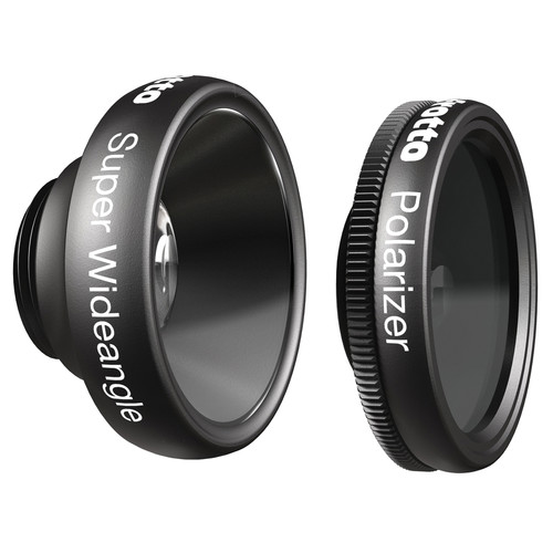 Manfrotto KLYP+ Super Wide-Angle and Polarizer Lenses for iPhone 6/6 Plus