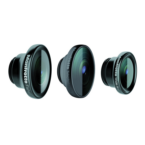 Manfrotto KLYP+ Fisheye, Portrait 1.5x, and Wide Angle Lenses