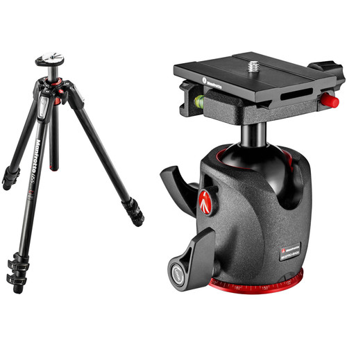 Manfrotto MT055CXPRO3 Carbon Fiber Tripod with XPRO Ball Head with Top Lock Quick-Release System