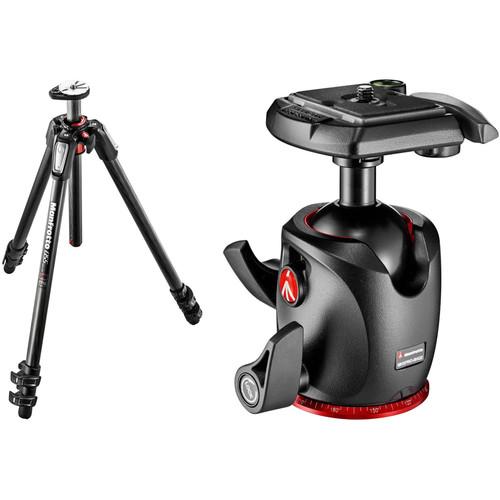 Manfrotto MT055CXPRO3 Carbon Fiber Tripod with 054 Magnesium Ball Head Kit
