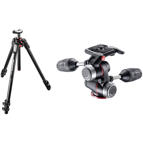 Manfrotto MT055CXPRO3 Carbon Fiber Tripod with MHXPRO-3W 3-Way Pan/Tilt Head Kit