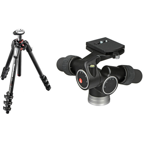 Manfrotto MT055CXPRO4 Carbon Fiber Tripod with 405 Pro Digital Geared Head