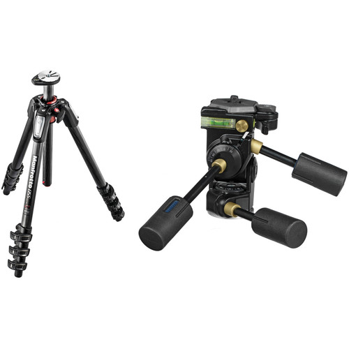Manfrotto MT055CXPRO4 Carbon Fiber Tripod with 229D Super Professional Head