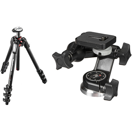 Manfrotto MT055CXPRO4 Carbon Fiber Tripod with 056 3D Junior Pan/Tilt Head