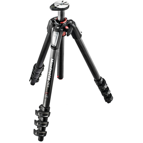 Manfrotto MT055CXPRO4 Carbon Fiber Tripod with 808RC4 3-Way Pan/Tilt Head