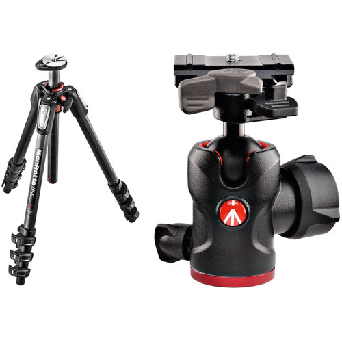 Manfrotto MT055CXPRO4 Carbon Fiber Tripod and 494 Ball Head Kit with 200PL-PRO Quick Release Plate
