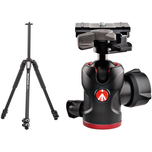 Manfrotto MT055XPRO3 Aluminum Tripod and 494 Ball Head with 200PL-PRO Quick Release Plate Kit