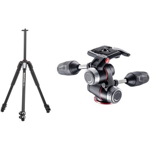 Manfrotto MT055XPRO3 Aluminum Tripod with MHXPRO-3W 3-Way Pan/Tilt Head Kit