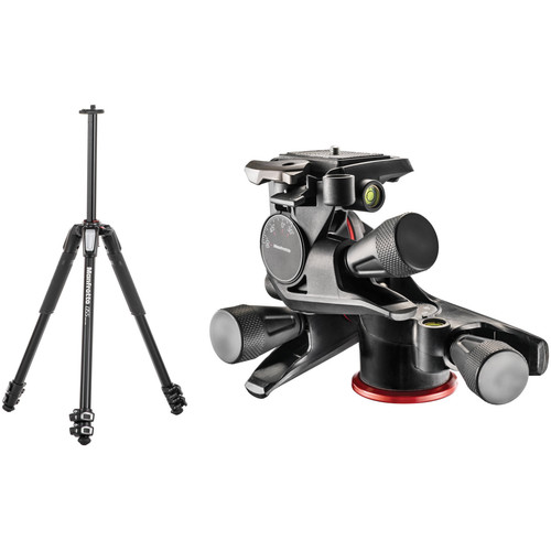 Manfrotto MT055XPRO3 Aluminum Tripod with XPRO Geared 3-Way Pan/Tilt Head Kit