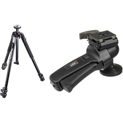 Manfrotto MT190X3 Aluminum Tripod with 322RC2 Grip Action Ball Head