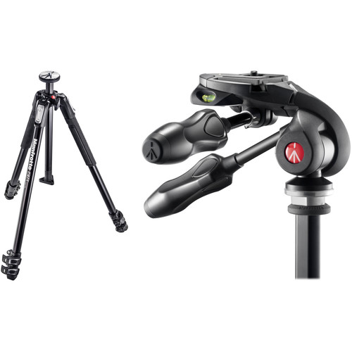 Manfrotto MT190X3 Aluminum Tripod with MH293D3-Q2 3-Way Photo Head