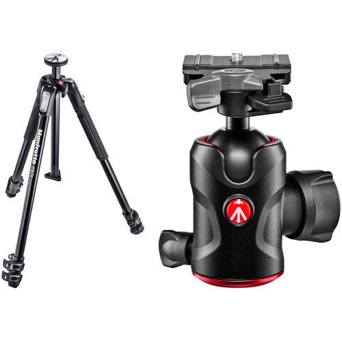 Manfrotto MT190X3 Aluminum Tripod with 496 Compact Ball Head