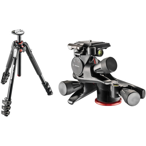 Manfrotto MT190XPRO4 Aluminum Tripod with XPRO Geared 3-Way Pan/Tilt Head Kit