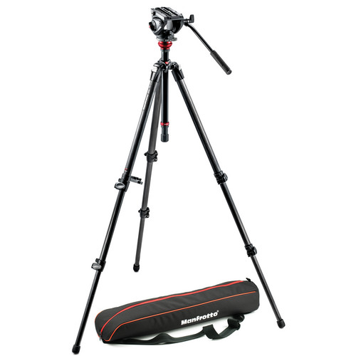 Manfrotto MVH500AH Fluid Head & 755CX3 MagFibre Tripod with Bag